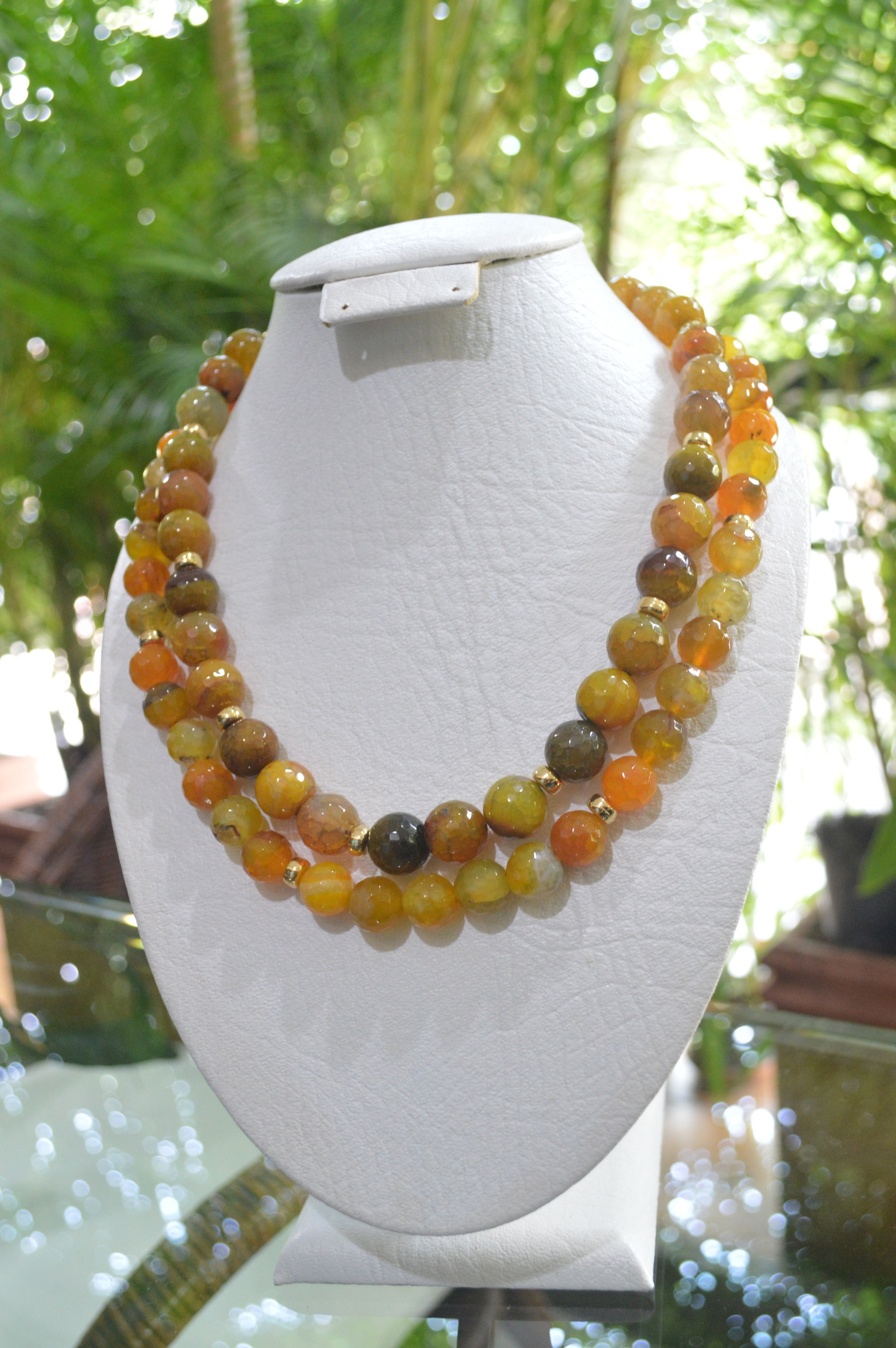 two strand agate necklace